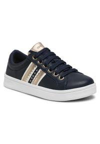 Geox - Sneakersy GEOX - J Djrock G. H J024MH 00043 C0730 S Navy/Gold. Okazja: na co dzień. Kolor: niebieski. Materiał: skóra, materiał. Wzór: aplikacja. Styl: casual
