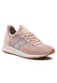 Różowe sneakersy Refresh z cholewką, na co dzień