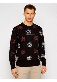 Trussardi Jeans - Trussardi Bluza Fleece 52F00160 Czarny Regular Fit. Kolor: czarny