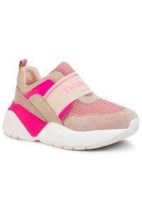 Beżowe buty sportowe TwinSet do biegania