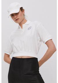 Nike Sportswear - T-shirt. Kolor: biały. Długość: krótkie. Wzór: aplikacja