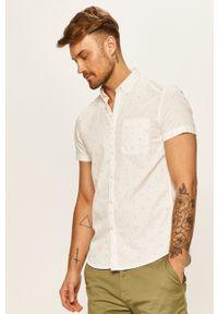 Biała koszula Tom Tailor Denim krótka, na co dzień