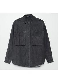 Cropp - Jeansowa koszula - Szary. Kolor: szary. Materiał: jeans