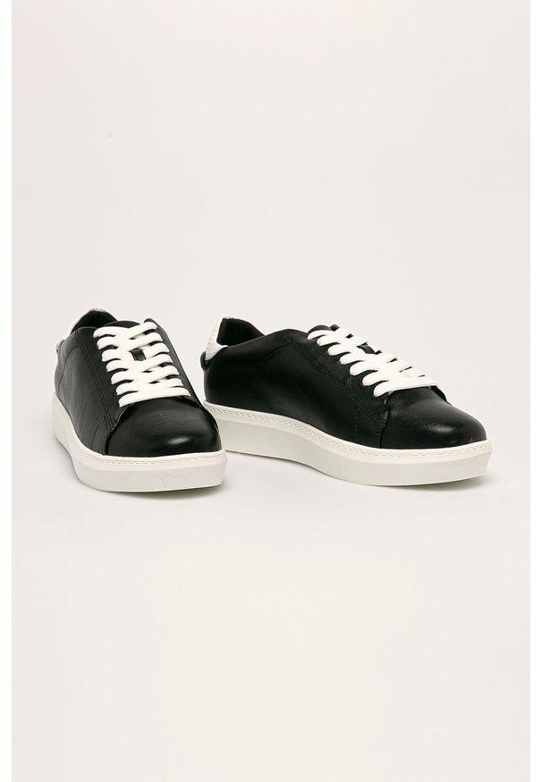 Czarne buty sportowe Call It Spring z okrągłym noskiem, na sznurówki, z cholewką