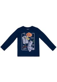 Mayoral Bluzka 3047 Granatowy Regular Fit. Kolor: niebieski