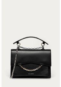 Czarna listonoszka Karl Lagerfeld klasyczna, na ramię