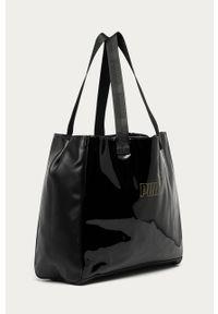 Czarna shopperka Puma duża, z nadrukiem