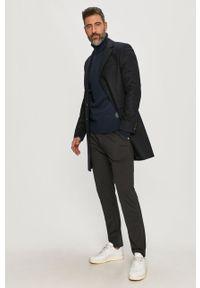 Niebieski płaszcz Tommy Hilfiger Tailored bez kaptura, casualowy
