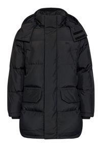 Lacoste Kurtka puchowa BH1960 Czarny Regular Fit. Kolor: czarny. Materiał: puch