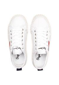 Pepe Jeans Tenisówki Ottis Boy PBS30476 Biały. Kolor: biały #4