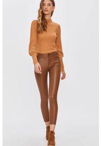 Brązowe spodnie materiałowe ANSWEAR wakacyjne