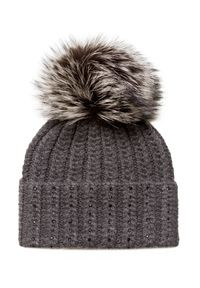 Szara czapka William Sharp na zimę, elegancka