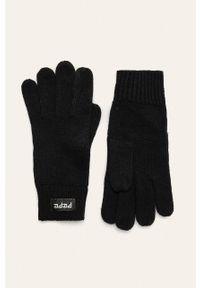 Czarne rękawiczki Pepe Jeans