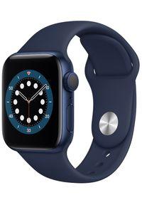 APPLE - Apple smartwatch Watch Series 6, 40mm Blue Aluminium Case with Deep Navy Sport Band (MG143HC/A). Rodzaj zegarka: smartwatch. Kolor: niebieski. Styl: sportowy