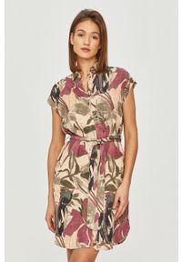 Wielokolorowa sukienka Desigual prosta, casualowa, z krótkim rękawem, na co dzień
