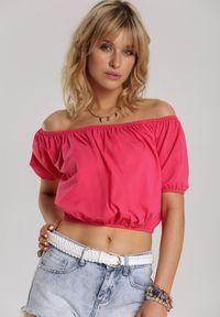 Różowa bluzka hiszpanka Renee