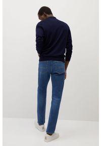 Niebieski sweter Mango Man z długim rękawem, na co dzień, casualowy
