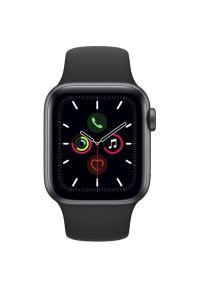 Czarny zegarek APPLE sportowy, cyfrowy