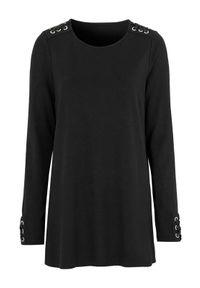 Cellbes Dżersejowa tunika ze sznurowaniem Czarny female czarny 50/52. Kolor: czarny. Materiał: jersey. Długość rękawa: długi rękaw. Długość: długie