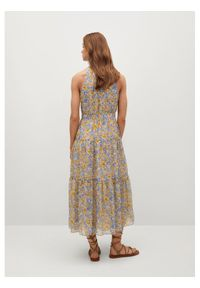 mango - Mango Sukienka letnia Purple 87027161 Kolorowy Regular Fit. Wzór: kolorowy. Sezon: lato