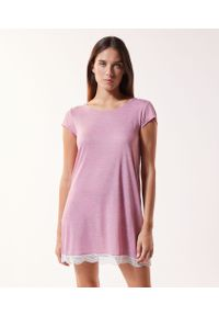 Koszula nocna Etam w koronkowe wzory, krótka