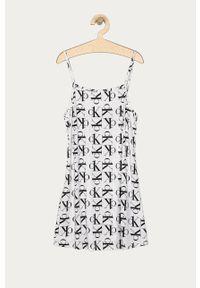 Biała sukienka Calvin Klein Underwear na ramiączkach, mini