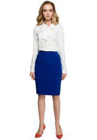 Niebieska spódnica ołówkowa MOE klasyczna