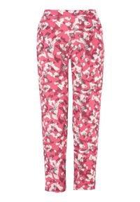 Soyaconcept Spodnie Sarika różowy we wzory female różowy/ze wzorem L (42). Stan: podwyższony. Kolor: różowy. Materiał: guma. Długość: do kostek