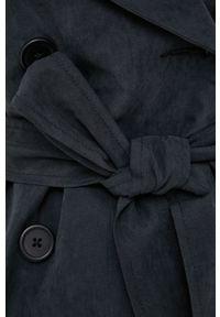 Brave Soul - Trencz. Okazja: na co dzień. Kolor: czarny. Materiał: materiał. Styl: klasyczny, casual #6