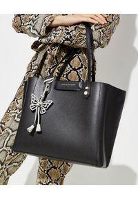 SOPHIA WEBSTER - Czarna torba shopper Hola. Kolor: czarny. Wzór: nadruk. Materiał: z tłoczeniem. Rodzaj torebki: do ręki