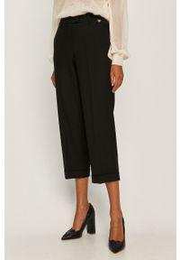 Czarne spodnie materiałowe TwinSet casualowe, na co dzień
