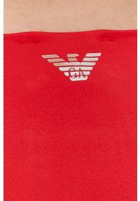 Emporio Armani Underwear - Emporio Armani - Strój kąpielowy. Kolor: czerwony. Wzór: nadruk