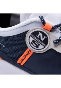 North Sails - Sneakersy NORTH SAILS - RW/01 Wave 020 Navy/White/Orange Fluo. Okazja: na co dzień. Kolor: niebieski. Materiał: materiał, zamsz, skóra. Szerokość cholewki: normalna. Styl: casual