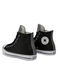 Czarne półbuty Converse casualowe, z cholewką, na co dzień