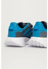 Szare buty sportowe Adidas na rzepy, z cholewką, do biegania