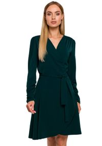 Sukienka MOE z długim rękawem, kopertowa