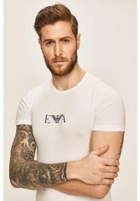 Biały t-shirt Emporio Armani casualowy, na co dzień, z nadrukiem