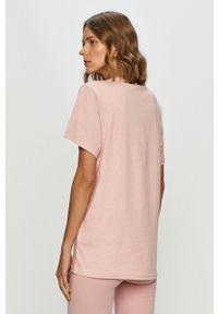 Różowa bluzka Ellesse na co dzień, z nadrukiem