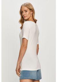 Biała bluzka Vero Moda casualowa, na co dzień, gładkie, z dekoltem w łódkę