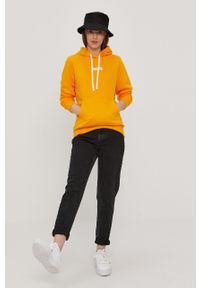 Pomarańczowa bluza Prosto. z kapturem, na co dzień