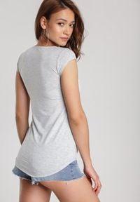 Renee - Szary T-shirt Loraisea. Kolor: szary