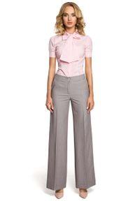 Szare spodnie z wysokim stanem MOE eleganckie