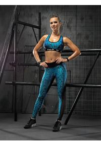 Czarny biustonosz sportowy FJ! na fitness i siłownię, push-up