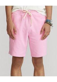 Ralph Lauren - RALPH LAUREN - Różowe krótkie spodenki. Kolor: wielokolorowy, różowy, fioletowy. Materiał: bawełna. Długość: krótkie. Wzór: haft