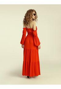 Madnezz - Sukienka Colombiana - chilli. Materiał: wiskoza, elastan