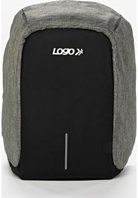 Szary plecak na laptopa Logo