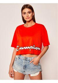 Pomarańczowy t-shirt Champion z nadrukiem