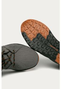 Szare sneakersy columbia z okrągłym noskiem, z cholewką, na sznurówki
