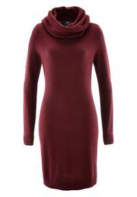 Czerwona sukienka bonprix z golfem