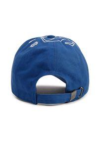 Niebieska czapka z daszkiem BOSS z aplikacjami